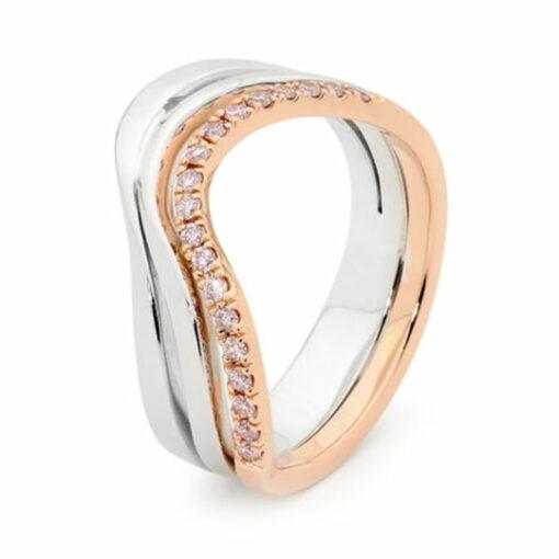 Desert Rose Jewellery Smoothed Pink Diamond Dress Ring Edjr018