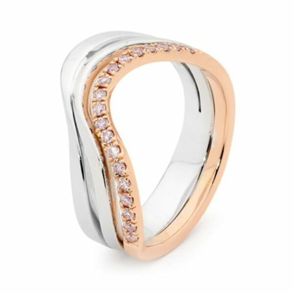 Desert Rose Jewellery Smoothed Pink Diamond Dress Ring Edjr018