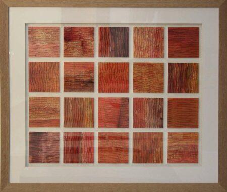 Np36 Narelle Pendlebury Earthen Grid Ii Painting