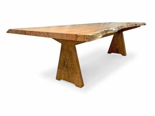 Slimline Nara Marri Single Slab Dining Table Long Side