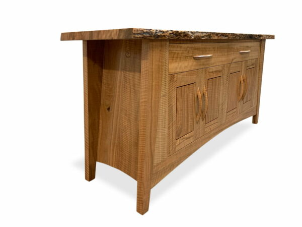 Warner Glen Curly Marri Sideboard Side View