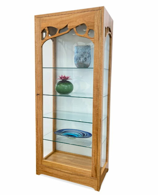 Canopy Glass Backed Display Cabinet Side Light