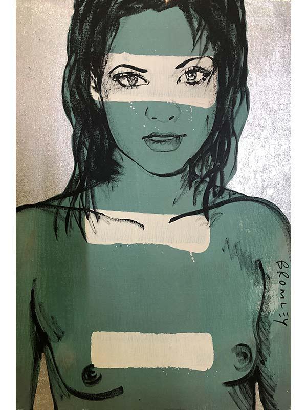 David Bromley Painting Belinda Silver