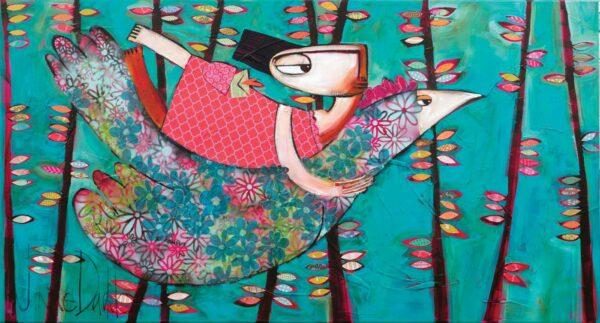 Janine Daddo Teal Adventure Bound Original Painting