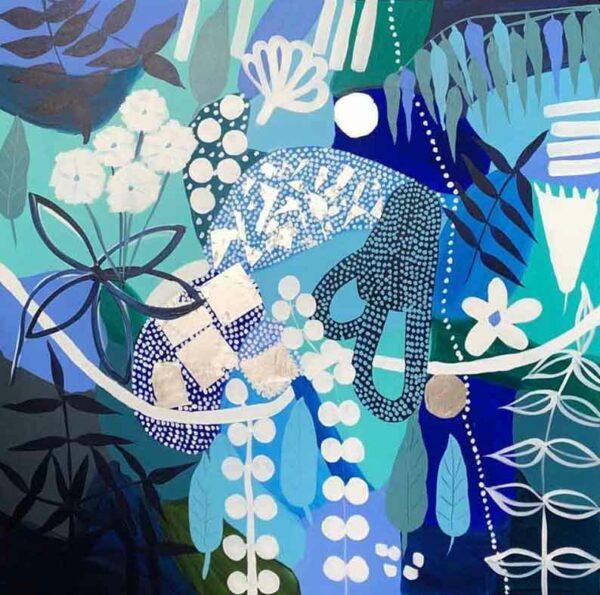 Joan Blond Caribbean Blue Art Painting
