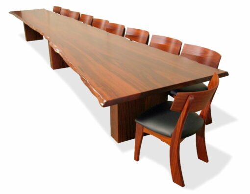 6M Slab Dining Table Top View