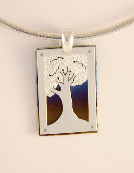 Amillon Tree Pendant Rectangle
