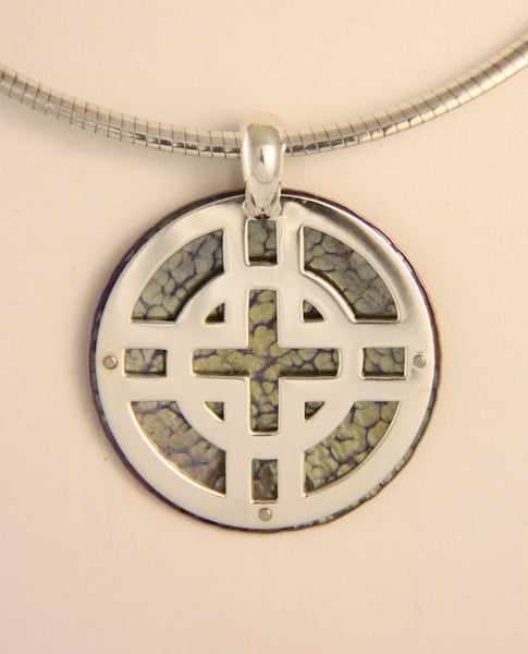 Amillon Circle And Cross Pendant Round