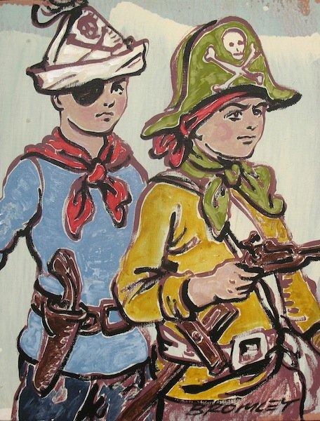 Dbr182 Pirate Boys 36X46Cm 2600
