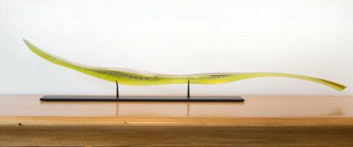 Edols Elliot Bumpy Olive Green Leaf Cropped