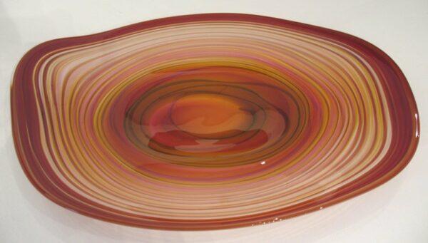 Eileen Gordon Centrifugal Platter Red