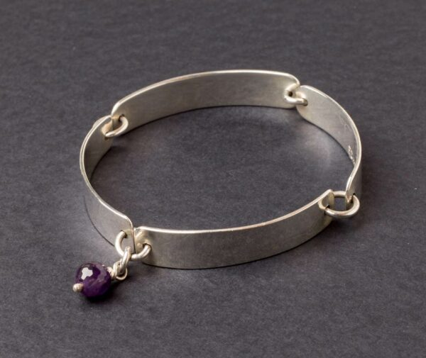 Emma Cotton Ribbons Amethyst Bracelet Already On Website Add Images