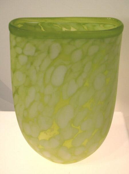Grant Donaldson Lime White Vase 740