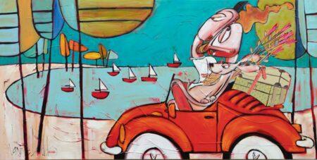 Janine Daddo Road Trip Painting