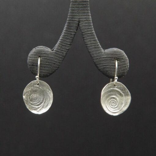 Jen Mitchell Silver Operculum Earrings Large Jmit22