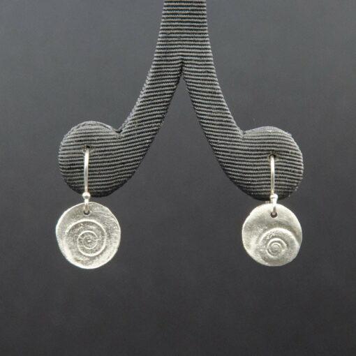 Jen Mitchell Silver Operculum Earrings Small Jmit20