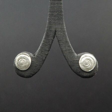 Jen Mitchell Silver Operculum Earrings Studs Small Jmit19