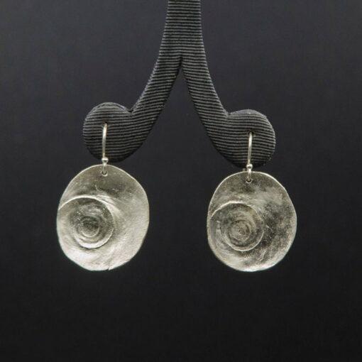 Jen Mitchell Siver Operculum Earrings X Large Jmit23