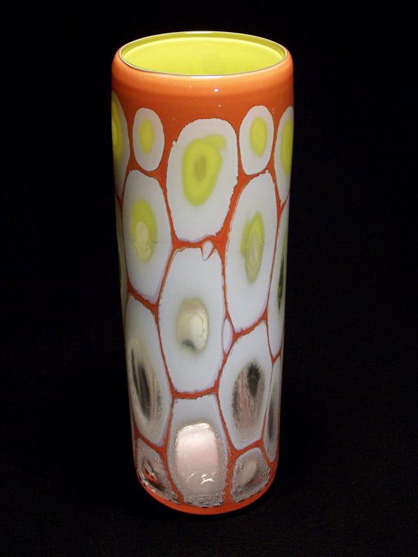 Matthew Ryan Graal Vessel Red White And Lemon Cylinder