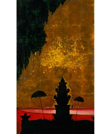 Shaun Atkinson Tenget 92x160cm Oil And Gold Leaf On Panel