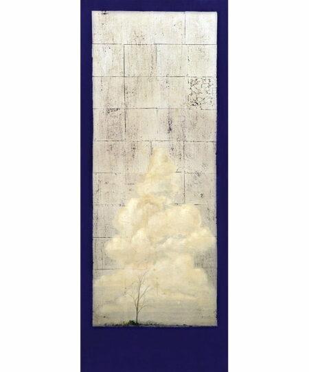 Shaun Atkinson Wallcliffe Road Blue 165cmx65cm Oil And Silver Leaf On Canvas