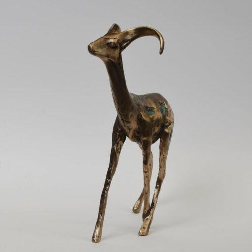 Cossy Bardwell Adventurous Buck Front Bronze Sculpture