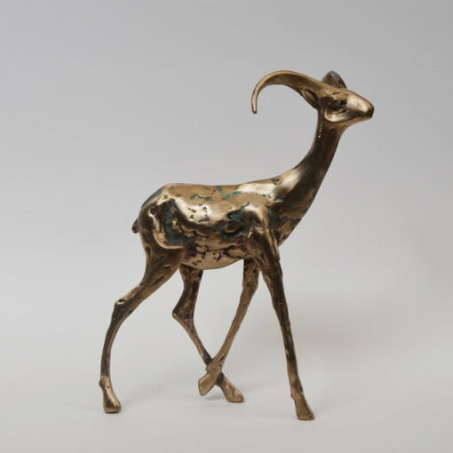 Cossy Bardwell Adventurous Buck Side Bronze Sculpture
