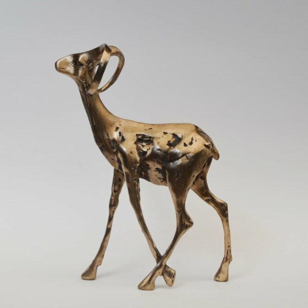 Cossy Bardwell Curious Buck Black Side Bronze Sculpture 1