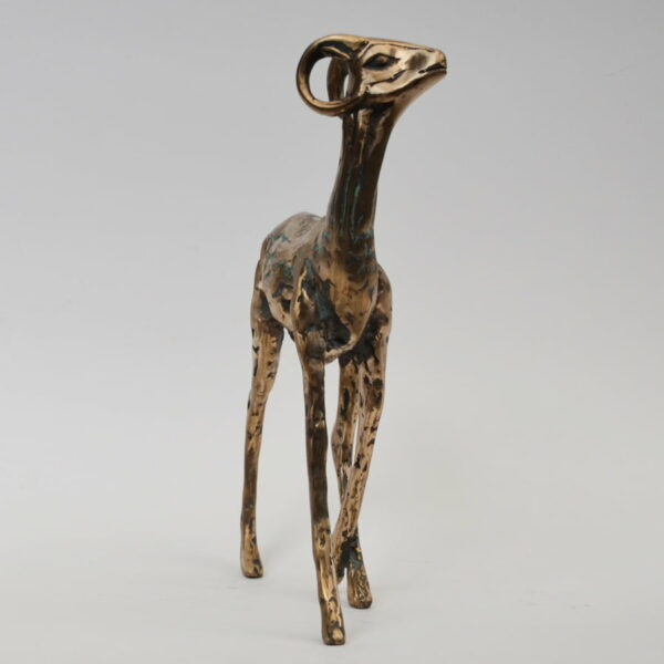 Cossy Bardwell Shy Buck Front Bronze Sculpture