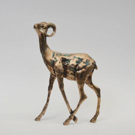 Cossy Bardwell Shy Buck Side Bronze Sculpture 1