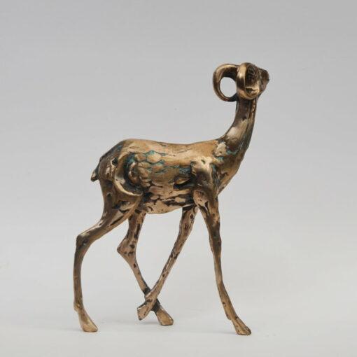 Cossy Bardwell Shy Buck Side Bronze Sculpture