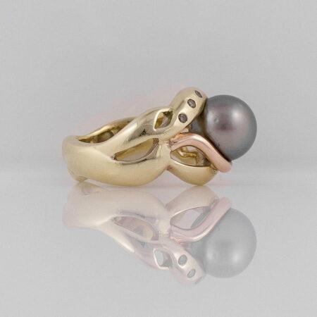 Gba Gemma Baker Abrolhos Pearl Diamond Ring Side View 1