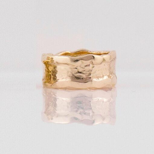Gemma Baker Molten Gold Ring