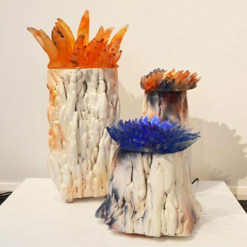 Sallie Portnoy Anenome Light Sculpture Together