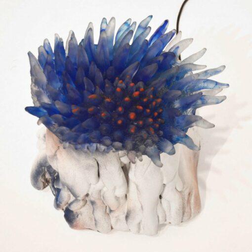 Sallie Portnoy Blue Anenome Sculpture Light Off