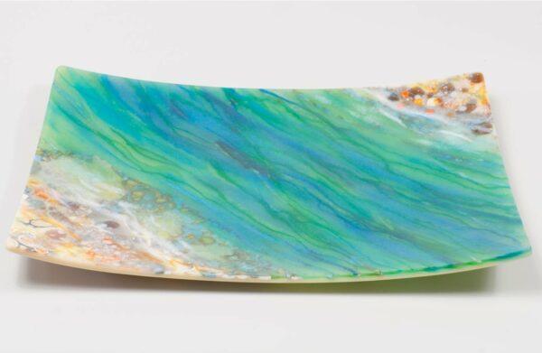 Vivienne Jagger River Running Through Glass Platter
