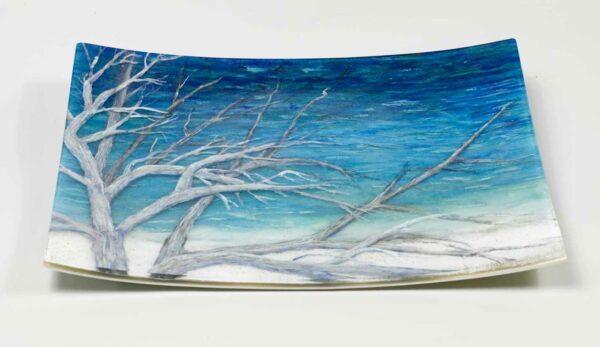Vivienne Jagger Windswept Glass Platter 1