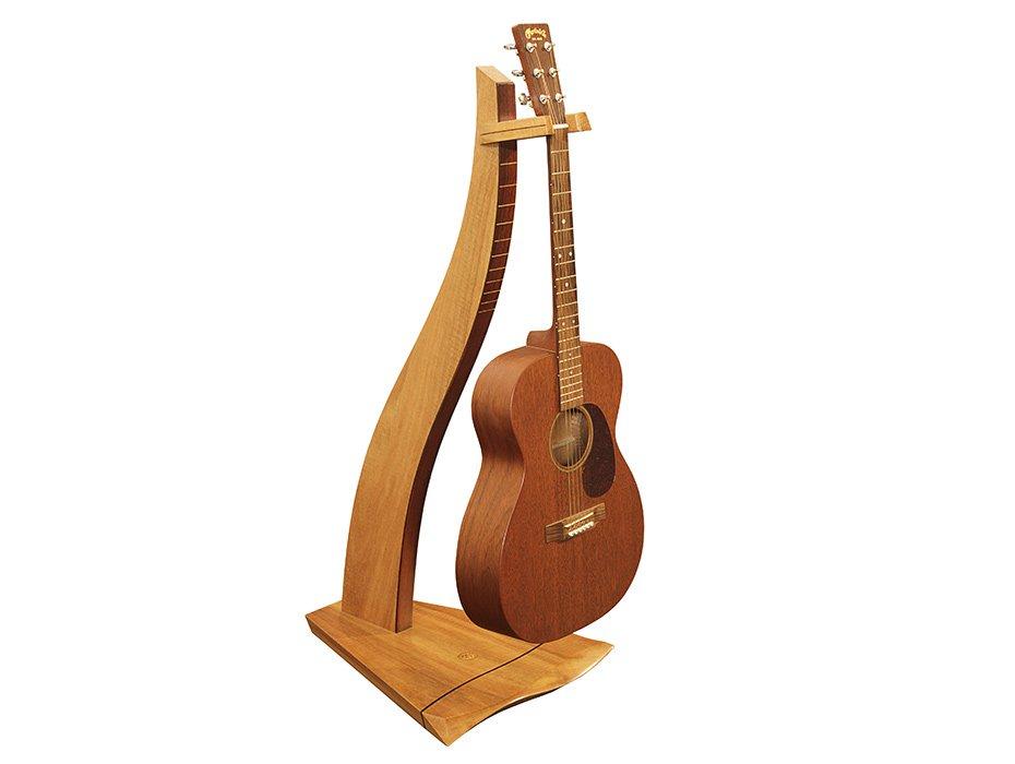 Designer Guitar Stand Marri Timber With Guitar