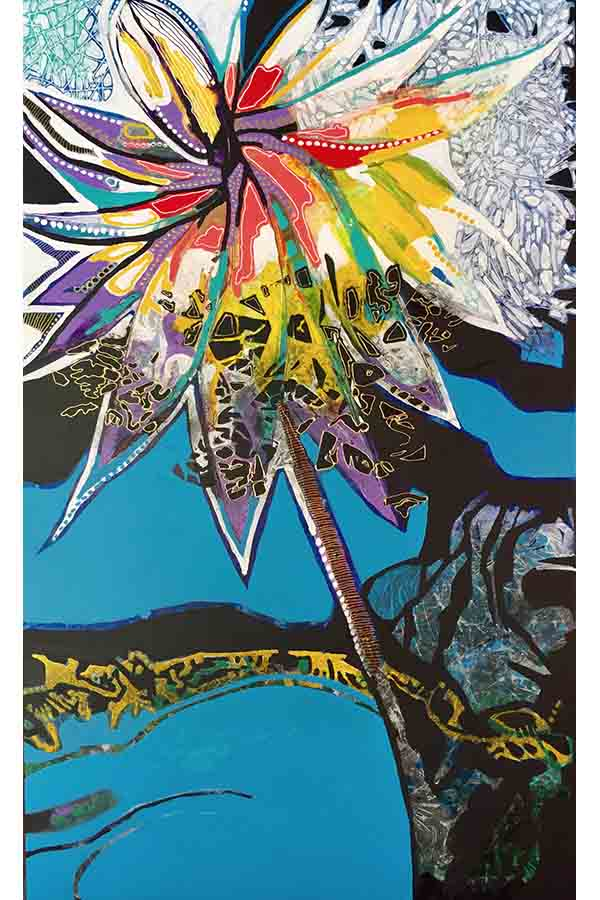 Astrid Dahl Lotus Dreaming Painting