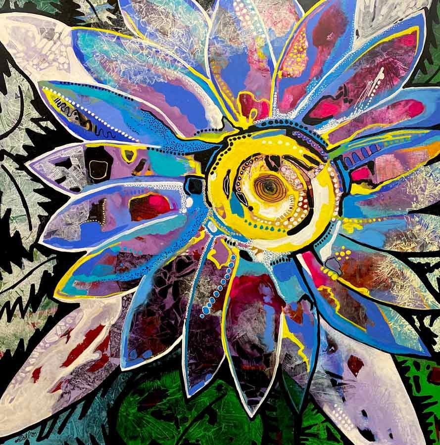 Astrid Dahl Sunshine Flower Painting