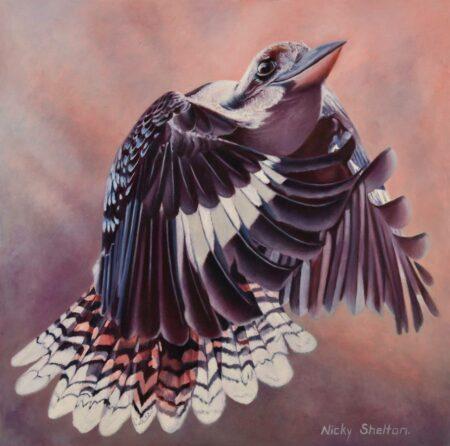 Nicky Shelton Maverick Bird Oil Painting