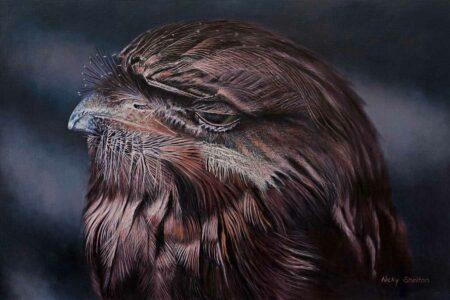 Nicky Shleton Fergus Bird Oil Painting