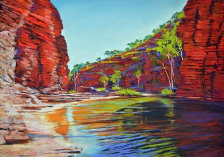 Shirley Fisher Kalamina Reflections Pastel Art
