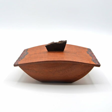 Andrew Potcnik Red Gum Patterned Box Lid On