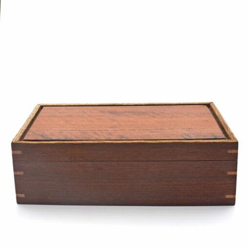 Andrew Potocnik Red Gum Wooden Box Lid On
