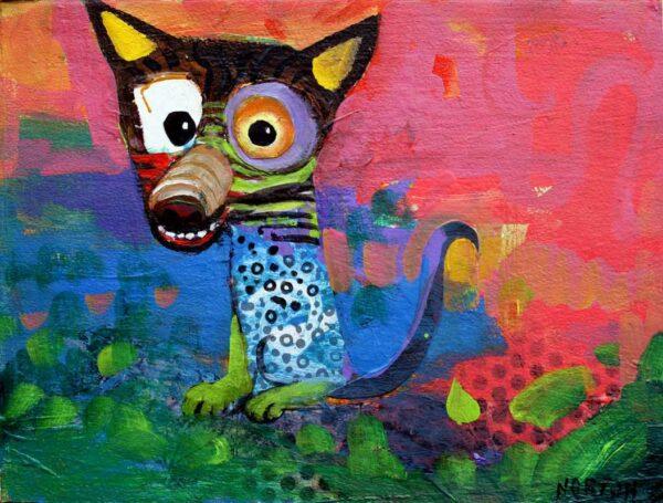 Helen Norton Psycho Dog Painting