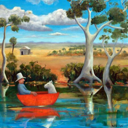 Helen Norton Red Boat Painting
