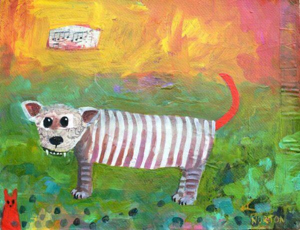 Helen Norton Singing Tiger Painting