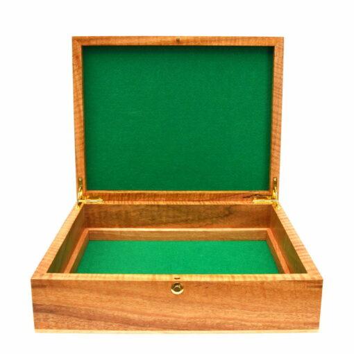 Jagath Prasantha Featured Inlay Collectors Document Box Open Empty