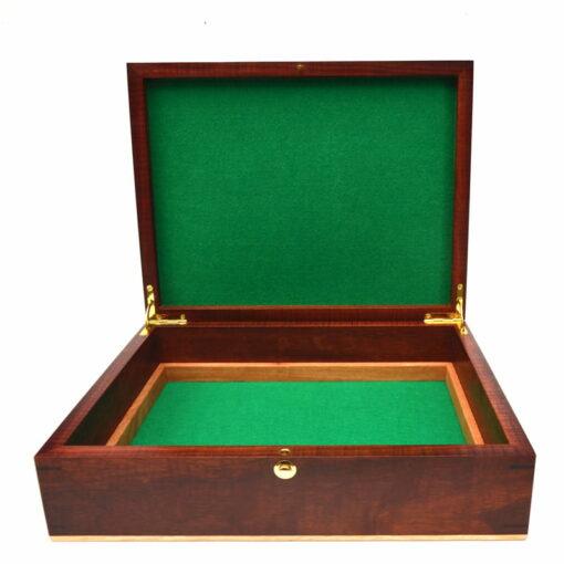 Jagath Prasantha Inlay Wooden Collectors Box Open Empty